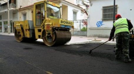 Στο τελικό στάδιο η ανακατασκευή της οδού Σεφέρη στη Λάρισα – Που διακόπτεται η κυκλοφορία μέχρι το Σάββατο (φωτο)