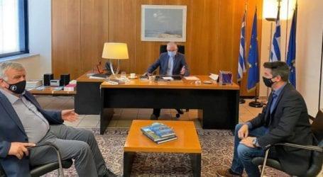 Με τον πρόεδρο του ΕΛΓΑ συναντήθηκε ο Θανάσης Νασιακόπουλος για τις ζημιές στα δημητριακά