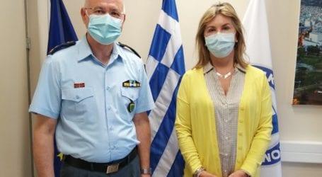 Ζ. Μακρή: Συνάντηση με τον Αστυνομικό Διευθυντή Μαγνησίας Μ. Αλεξάκη