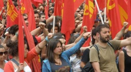 Συγκέντρωση του ΚΚΕ στον Βόλο ενάντια στο εργασιακό νομοσχέδιο