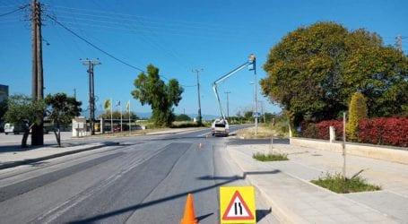 Αντικατάσταση φωτιστικών λαμπτήρων στη Νέα Αγχίαλο