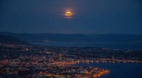 Βόλος: Πανσέληνος Μαΐου – Εκπληκτικές εικόνες από το Φεγγάρι των Λουλουδιών