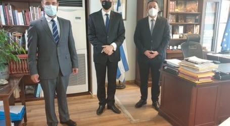 Συνάντηση του βουλευτή Κων. Μαραβέγια με τον υφ. Εξωτερικών Κ. Βλάση και τον Πρέσβη της Μολδαβίας