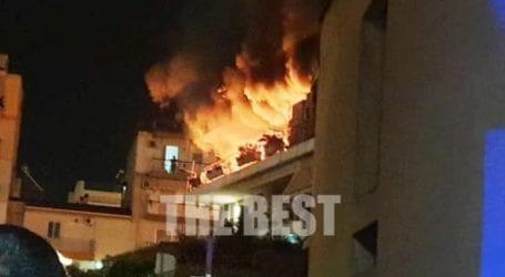 Πάτρα: Φωτιά σε πολυκατοικία στην οδό Βενιζέλου