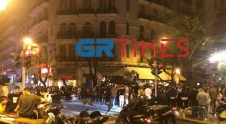 Εικόνες συνωστισμού στο κέντρο της Θεσσαλονίκης