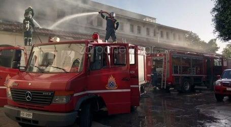 Χανιά: Πυρκαγιά στη Δημοτική Αγορά