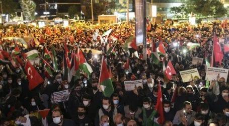 Διαδηλώσεις εναντίον του Ισραήλ στην Τουρκία