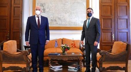 Συνάντηση του Ν. Δένδια με τον αναπληρωτή πρωθυπουργό της Βόρειας Μακεδονίας