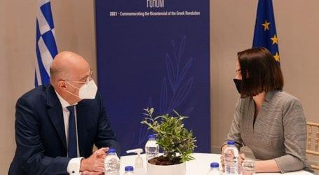 Συνάντηση του Ν. Δένδια με την αρχηγό της αντιπολίτευσης της Λευκορωσίας