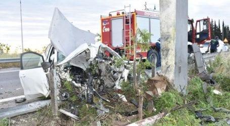 Νεκρός 49χρονος σε τροχαίο – Διαλύθηκε το όχημα που οδηγούσε