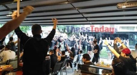 Οπαδοί του ΠΑΟΚ μετέτρεψαν καφετέρια στη Θεσσαλονίκη σε… Τούμπα