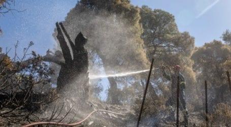 Σε ύφεση η πυρκαγιά στα Γεράνεια Όρη