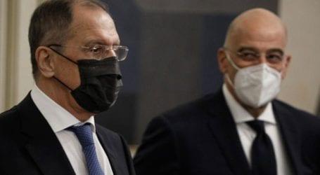 Συνάντηση Δένδια – Λαβρόφ: Επιθυμία της Ελλάδας η αποκατάσταση των σχέσεων ΕΕ-Ρωσίας