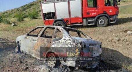 Κάηκε αυτοκίνητο στη Λίμνη Σμοκόβου