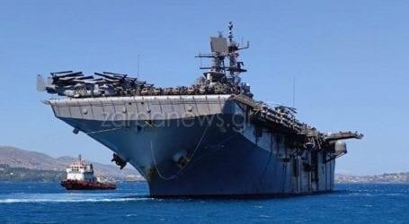 Έδεσε στη Σούδα το «θηρίο» ελικοπτεροφόρο USS Iwo Jima του αμερικανικού 6ου στόλου