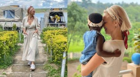 H Χριστίνα Κοντοβά πέρασε το Πάσχα στην Ουγκάντα μαζί με την κόρη της Ada