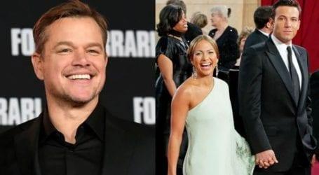 Το σχόλιο του Matt Damon για τη φημολογούμενη επανασύνδεση JLo – Ben Affleck