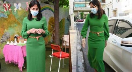 Η κομψή εμφάνιση της Δόμνας Μιχαηλίδου και το κρυφό μήνυμα πίσω από το φόρεμα της
