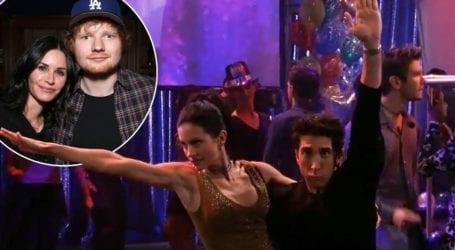 H Courteney Cox και ο Ed Sheeran αναβιώνουν τη θρυλική χορογραφία της Monica και του Ross από τα «Φιλαράκια»