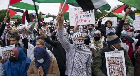 Διαδήλωση υπέρ των Παλαιστινίων στην Ουάσινγκτον