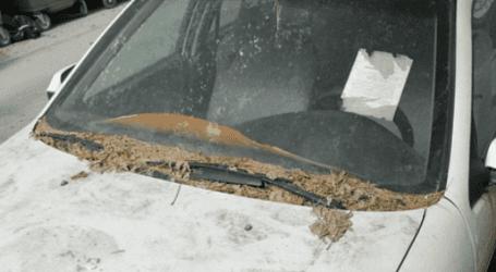 Εγκαταλελειμμένο αυτοκίνητο …κοσμεί κεντρικό δρόμο της Λάρισας (φωτο)