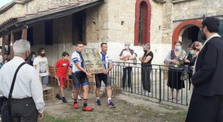 Στην περιφορά της εικόνας της Παναγίας η ποδηλασία της Νίκης Βόλου