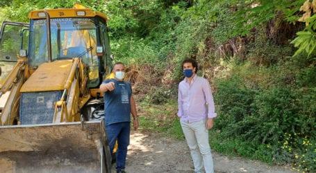 Στη Δράκεια Αργ. Κοπάνας και Ν. Κάπελας για την αγροτική οδοποιία- ασφαλτόστρωση αγροτικού δρόμου