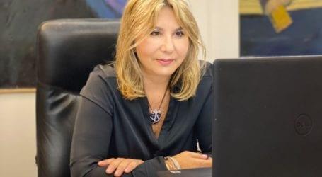 Η Ζέττα Μακρή με την Πανελλήνια Οργάνωση Γυναικών «Παναθηναϊκή»