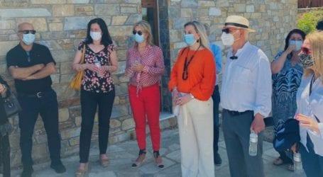 Η Ζέττα Μακρή στην ιστορική ξενάγηση στον Κισλά Σούρπης [εικόνες]