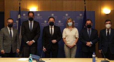 Η Ζέττα Μακρή στο Υπουργείο Υποδομών  για την πρώτη συνεδρίαση της Κυβερνητικής Επιτροπής για την Οδική Ασφάλεια