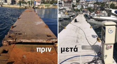 Επισκευάστηκαν οι πλωτές εξέδρες στη Σκιάθο – Τι πριν και το μετά