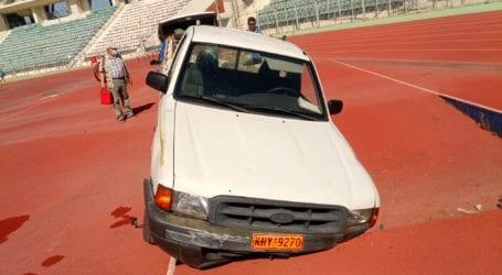 Βόλος: Aνατροπή ΙΧ μέσα στο Πανθεσσαλικό στάδιο – Δύο τραυματίες