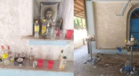 Άγνωστοι μετέτρεψαν το παρεκκλήσι του Αγ. Μανδηλίου σε μπαρ