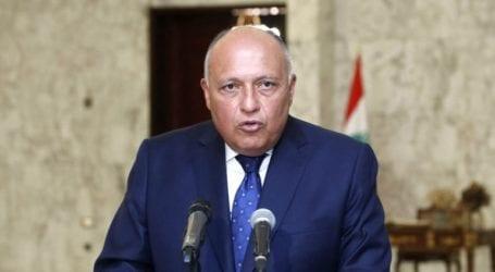 Ο Αιγύπτιος ΥΠΕΞ, Σ. Σούκρι, ζήτησε εκ νέου την αποχώρηση των ξένων στρατευμάτων από τη Λιβύη