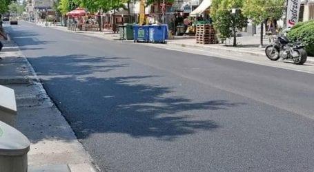 Ολοκληρώθηκε το έργο ασφαλτόστρωσης της οδού Ανδρέα Παπανδρέου στο Κορδελιό