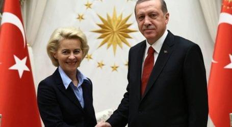 Επικοινωνία Φον Ντερ Λάιεν – Ερντογάν: «Συζητήσαμε την κατάσταση των σχέσεων ΕΕ-Τουρκίας»