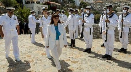 Στην Ύδρα η Πρόεδρος της Δημοκρατίας για τα «Μιαούλεια 2021»
