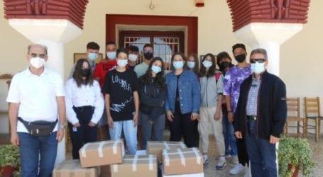 Τρόφιμα στο φιλόπτωχο ταμείο προσέφερε το Γυμνάσιο Πλατυκάμπου
