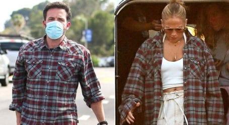 H νέα εμφάνιση της Jennifer Lopez φορώντας το καρό πουκάμισο του Ben Affleck