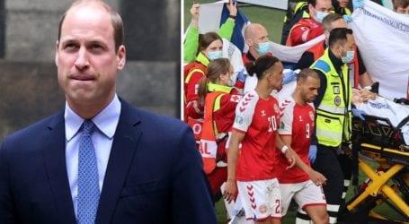 Το μήνυμα υποστήριξης του πρίγκιπα William στον Δανό ποδοσφαιριστή Christian Eriksen