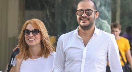 Μαρία Ηλιάκη – Στέλιος Μανουσάκης: Πρωινή βόλτα με τη νεογέννητη κόρη τους