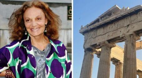 Στην Ελλάδα για διακοπές η Diane von Fürstenberg
