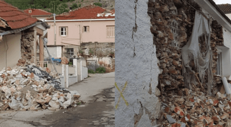 """Σεισμόπληκτο Δαμάσι: """"Επικίνδυνα τα πληγωμένα κτίρια, αποτελούν κίνδυνο θάνατο"""""""