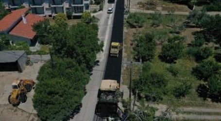 Ολοκληρώθηκε η ασφαλτόστρωση του δρόμου από την είσοδο Αγιοκάμπου έως τη γέφυρα προς Μετόχια
