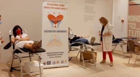 Με επιτυχία πραγματοποιήθηκε χθες η 1η δράση Εθελοντικής Αιμοδοσίας στο Fashion City Outlet