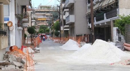Λάρισα: Συνεχίζονται τα έργα στις οδούς Γούναρη και Κιλκίς – Παράταση κυκλοφοριακών ρυθμίσεων