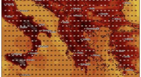 Καιρός: «Κόλαση» σε Λάρισα και Θεσσαλία – Δείτε πού σκαρφαλώνει ο υδράργυρος από σήμερα, Τρίτη (χάρτες)