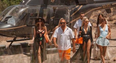 Τσουγκριάς: Με ελικόπτερο στο La Isla η Παναγιώταρου και πανέμορφα μοντέλα – Η συνάντηση με Μπέο [εικόνες]