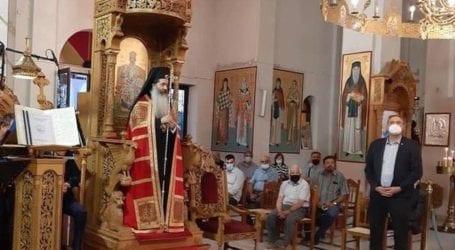 Ο δήμαρχος Τυρνάβου στον πολυαρχιερατικό εσπερινό των ονομαστηρίων του Ιερώνυμου