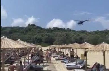 Σκιάθος: Με ελικόπτερο έφτασε ο σεΐχης του Κατάρ στο La Isla